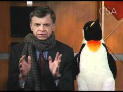 Джон Коттер и спасённый пингвин