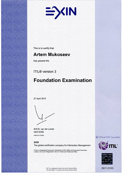 certificate am foundationv3