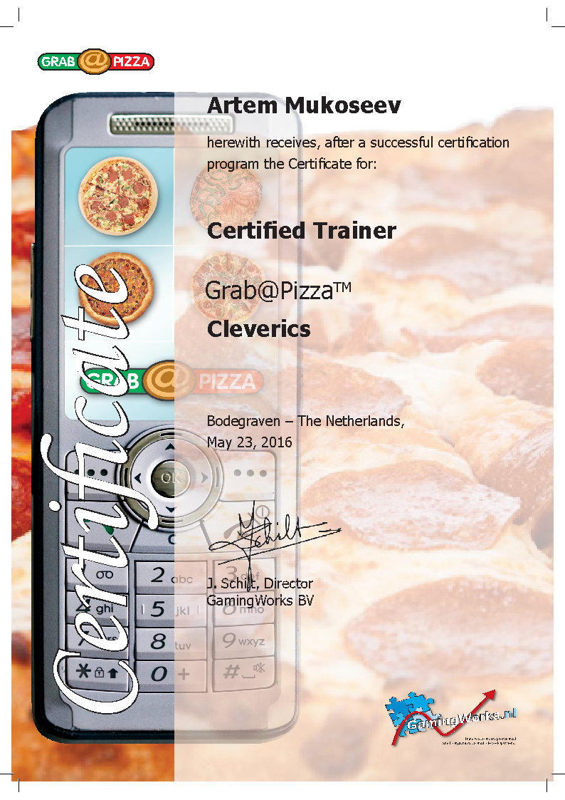 Certified Pizza Trainer