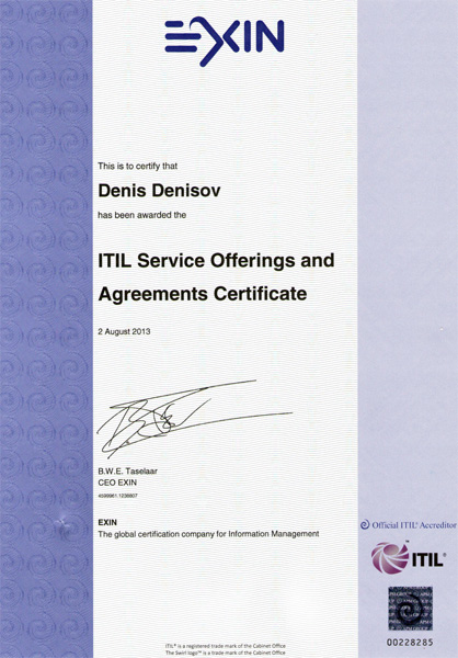 ITIL v3 Intermediate Qualification: Service Offerings and Agreements