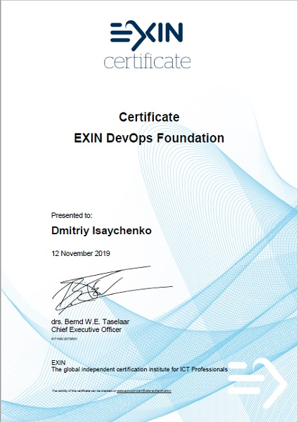 EXIN DevOps Foundation