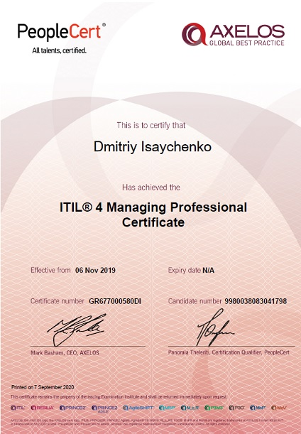 ITIL® 4 Managing Professional