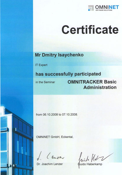 OMNITRACKER Basic administration