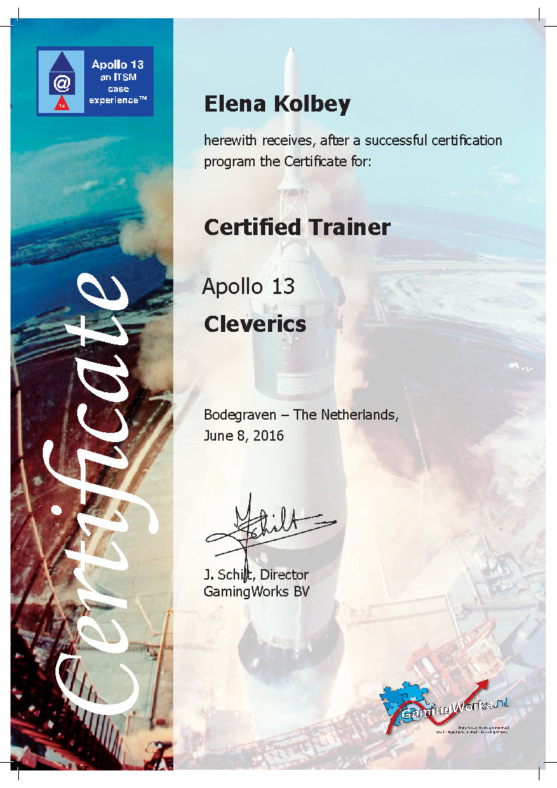 certificate apollo