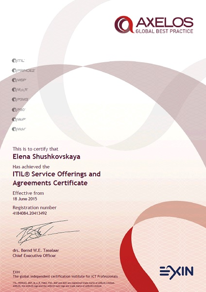 ITIL v3 Intermediate Qualification: ITIL Service Offerings and Agreements