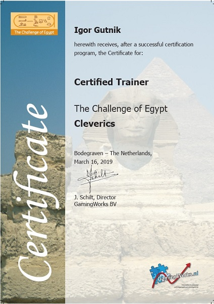 Certified The Challenge of Egypt Trainer