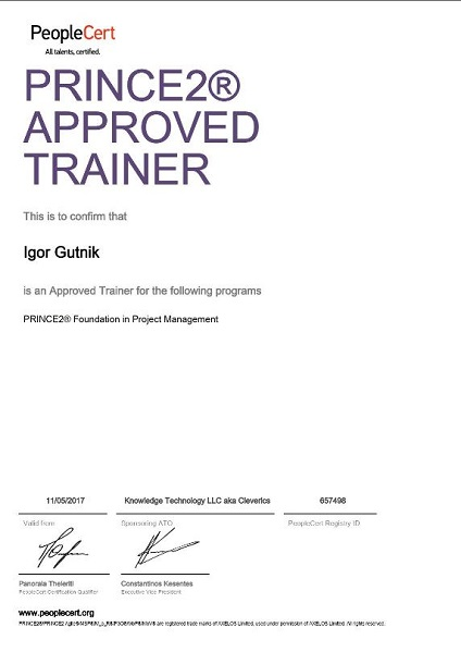 PRINCE2 Trainer