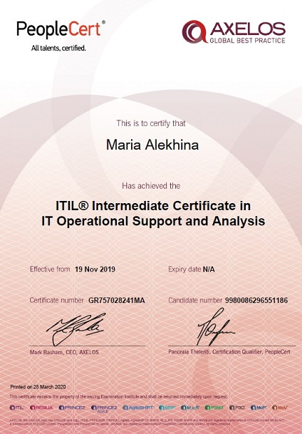 ITIL® 3 Operational Support and Analysis (OSA)