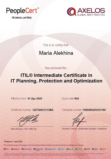 ITIL® 3 Planning, Protection and Optimization (PPO)