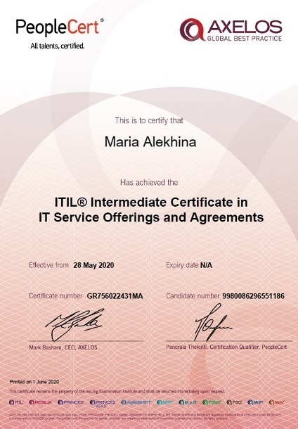 ITIL® 3 Service Offerings and Agreements (SOA)