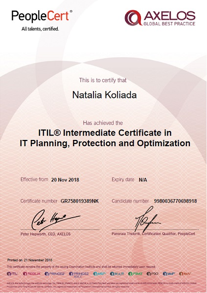 ITIL Planning, Protection and Optimization (PPO)