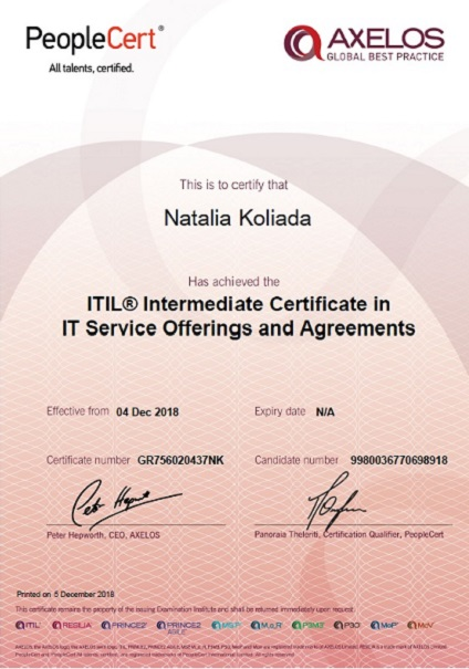 ITIL Service Offerings and Agreements (SOA)