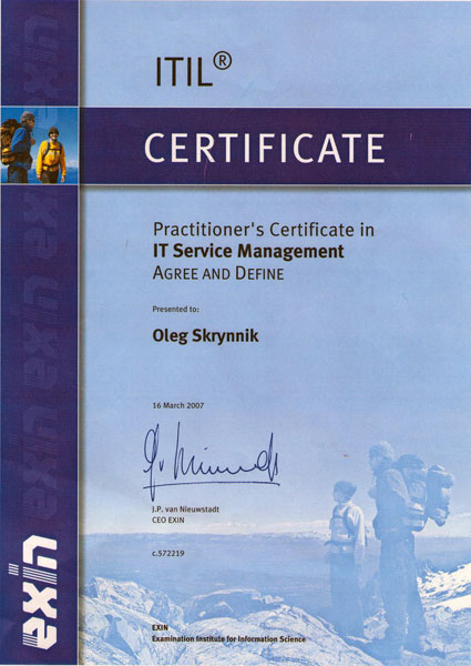 Practitioner's Certificate in IT Service Management / Agree and Define