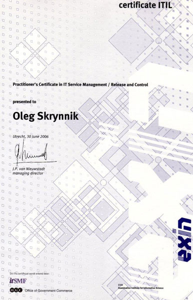 Practitioner's Certificate in IT Service Management / Release and Control