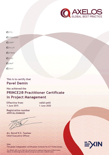 PRINCE2 Practitioner in Project Management