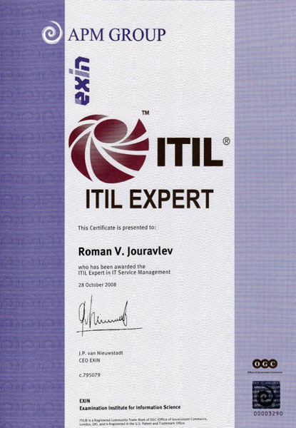 ITIL Expert in IT Service Management