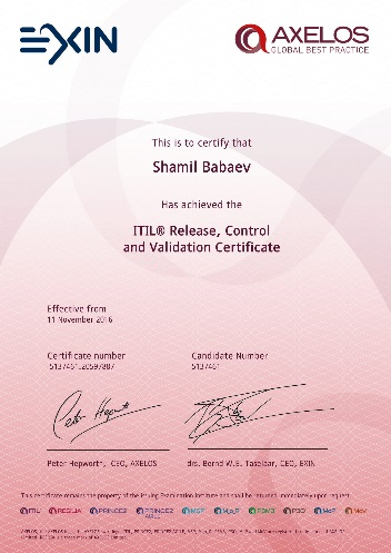 ITIL Release, Control and Validation (RCV)