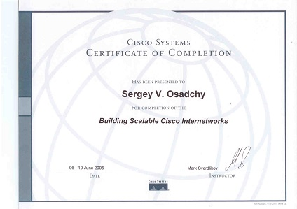 •Building Scalable Cisco Internetworks, REDCENTER, Москва